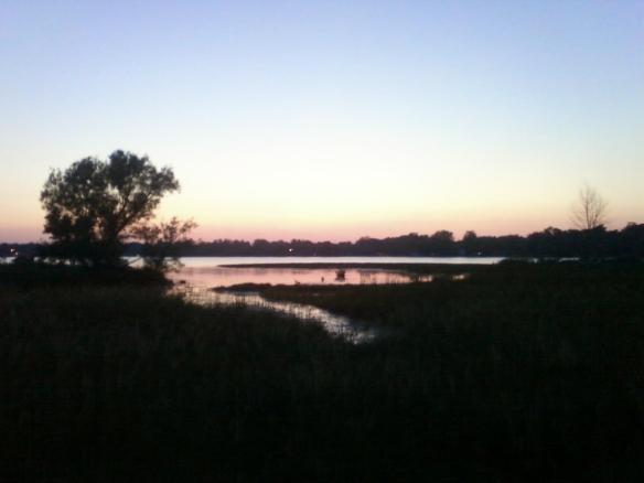 dark pink lake photo