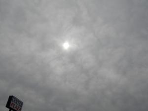 sun peeking out