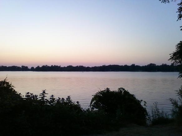 dark lake photo