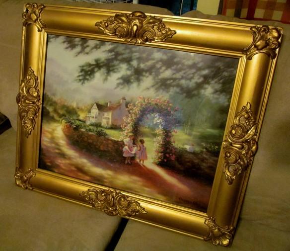 gold frame pic