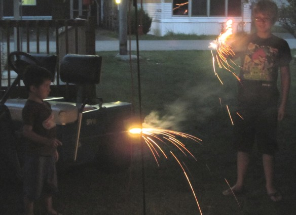 july 4th sparklers