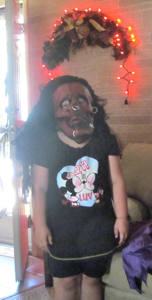 Hanna at Halloween