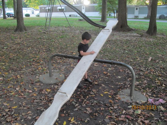 Caiden and teeter totter