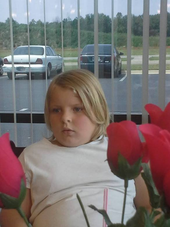 hanna and flowers