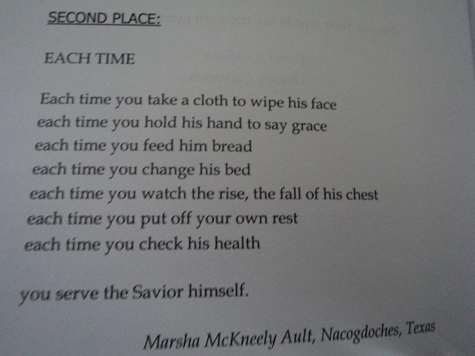 Marsha's poem